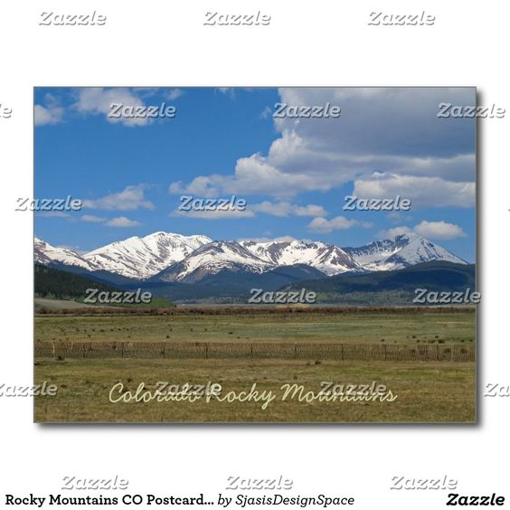 Rocky Mountains CO Postcard with 2017 Calendar