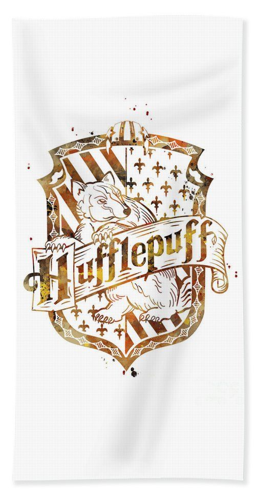 Hufflepuff Crest Beach Towel For Sale By Monn Print