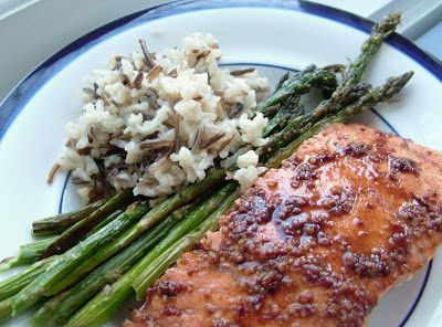 Salmon+%26+asparagus Day 49: Roasted Balsamic Glazed Salmon and asparagus