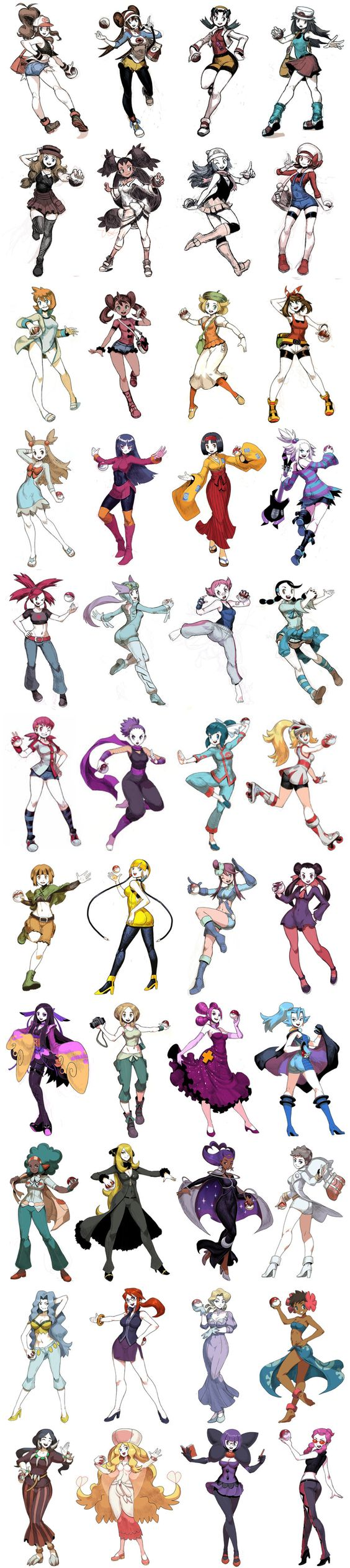 Female Pokemon gym leaders.