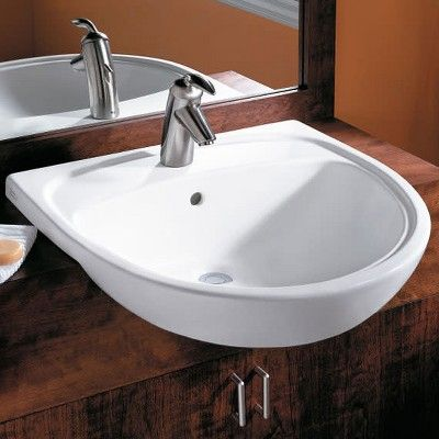 American Standard 9960 901 Mezzo Drop In Bathroom Sink With Single