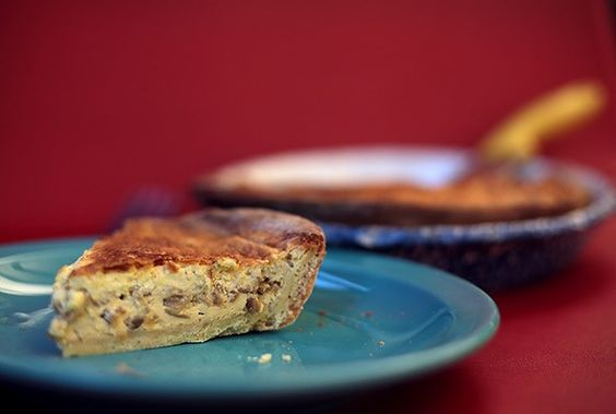 """Caramelized Onion Quiche recipe from Arcade Bakery, with an interesting discussion of the nature of quiche. """"It turns out quiche isn't primarily an egg dish; it's primarily a cream and milk dish."""""""