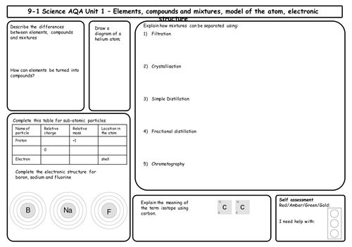 Best 25 aqa chemistry ideas on pinterest biology aqa aqa aqa chemistry 9 1 revision matsgrids for unit 1 3 differentiated urtaz Image collections