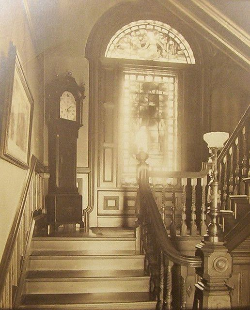 """""""Stairway 1880's"""" with Grandfather clock"""
