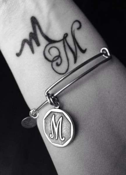 Tattoo Wrist Letter Quotes 30 Ideas Alphabet Tattoo Designs M Tattoos Letter M Tattoos