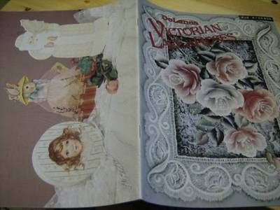 Delane's Victorian Lace Roses Painting Book Ladies Girl Gingerbread Santa | eBay