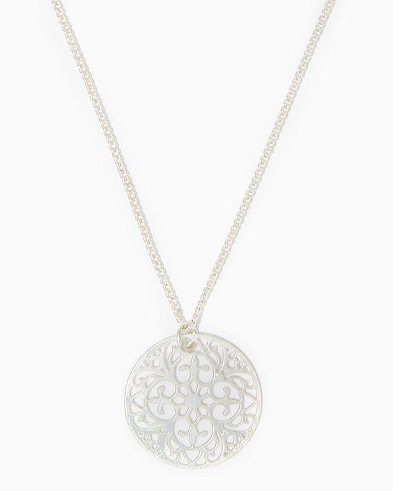 charming charlie | Filigree Disc Necklace | UPC: 410007212502 #charmingcharlie