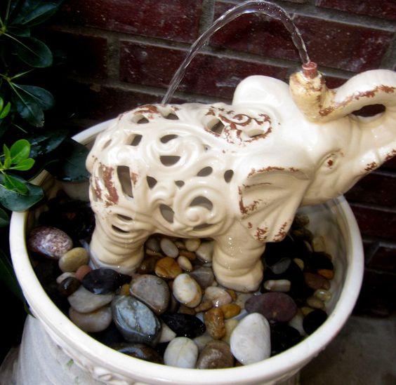 Elephant's Shower Water Fountain @Tina Davis