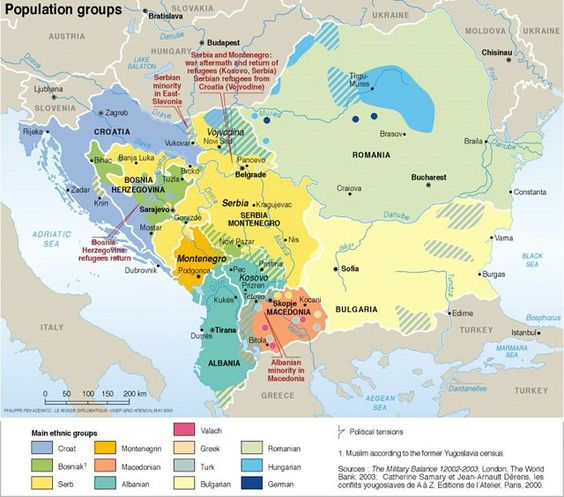 Map of Ethnic groups in South Eastern Europe httpsde – South of Europe Map