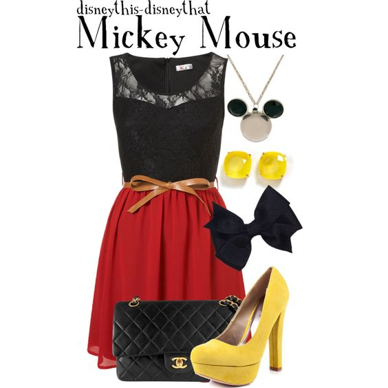 Disney Outfit - Mickey Mouse ...kinda strange but I love this!: