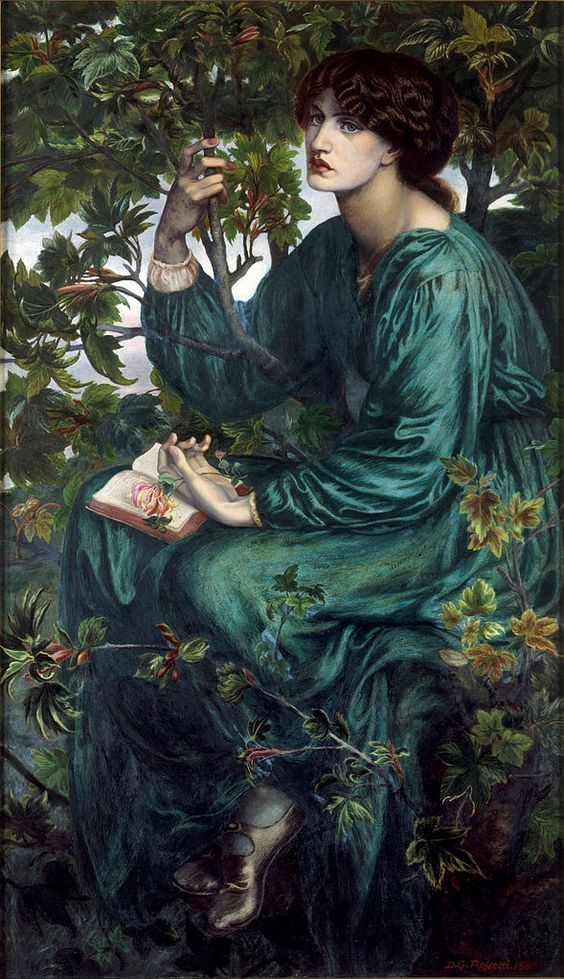 Rossetti, Dante Gabriel (English 1828-1882)  The Day Dream: 1880 Oil on Canvas.  Victoria and Albert Museum  London, England  Artist was part of the Pre-Raphaelite Brotherhood