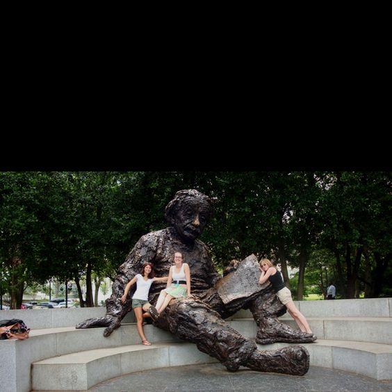 Our friend Albert Einstein in a park tucked away in Washington, DC