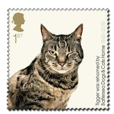 Battersea Cats & Dogs Home Pin Badge - Tigger  stamp