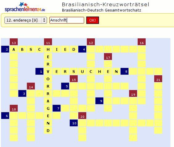 Litauisch-Kreuzworträtsel zum Sprachen lernen. Verbessern Sie durch Kreuzworträtsel spielend Ihre Sprachkompetenz.
