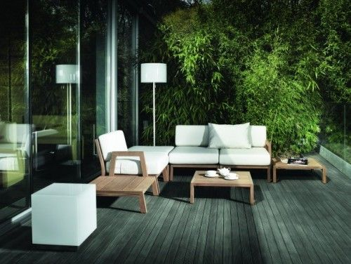 Comfortable seating for the deck
