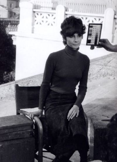 Signora Audrey Hepburn Dotti photographed by Guglielmo Coluzzi during the filming of a commercial for UNICEF in Rome (Italy), in January 1972.