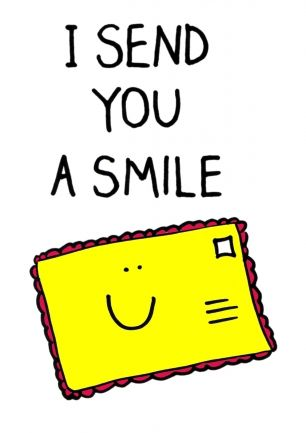 I send you a smile