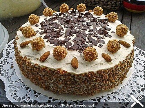Giotto-Torte, ein sehr leckeres Rezept aus der Kategorie Torten. Bewertungen: 131. Durchschnitt: Ø 4,5.