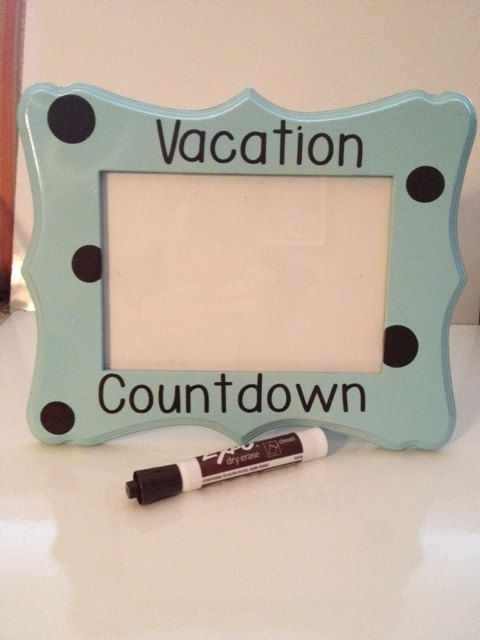 Always need something to look forward to... Vacation Countdown Board by SchroederChick on Etsy, $20.00