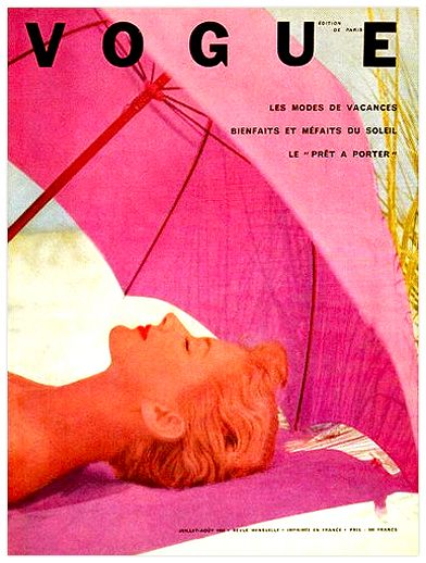French Vogue, July 1952  See this and 19 other wonderful vintage July magazine covers at the latest edition of When Magazines Ruled the World, collected by Boom Underground.