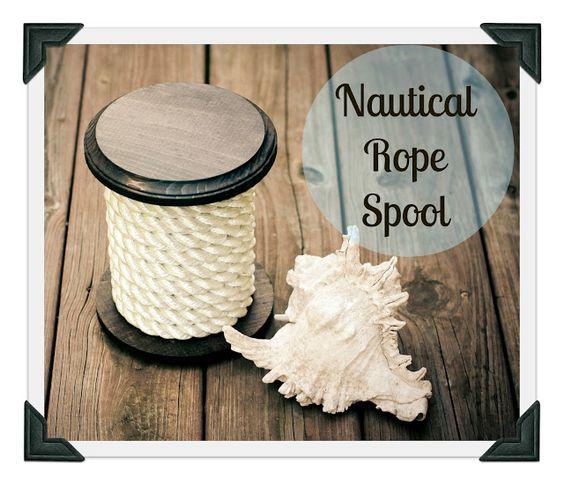 Hoot Designs: Nautical Rope Spool DIY