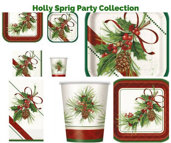Holly Sprig Party Banner
