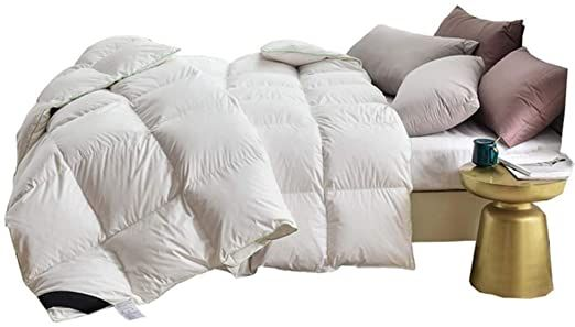 Jo Bedding Winter Duvet White Goose Feather And Down Duvet 100 Cotton Anti Dust Mite Amp Down Proof Cover 200 Times 230 3 In 2020 Dust Mites Cool Comforters Bed