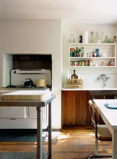 natural, simple kitchen
