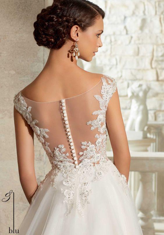5317 vestidos de boda / vestidos Crystal abalorios en apliques bordados en el vestido de bola de Tulle