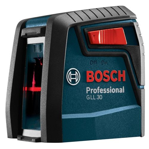 Bosch 30 Ft Red Beam Self Leveling Cross Line Cross Laser Level With Plumb Points And Level With Case At Lowe S The Bosch Gll 30 Self Leveling Cross Line Laser