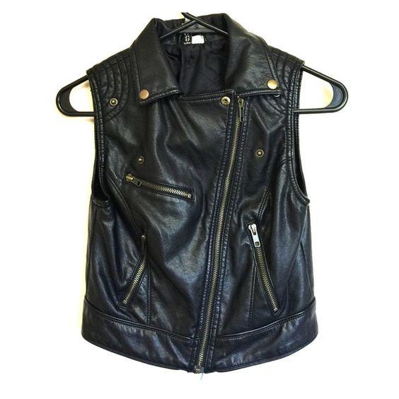 Selling this Black leather vest in my Poshmark closet! My username is: beautybyashly. #shopmycloset #poshmark #fashion #shopping #style #forsale #Divided #Jackets