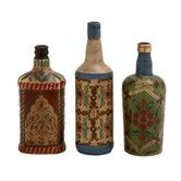 Found it at Wayfair - 3 Piece Rare and Beautiful Glass Painted Bottle Set