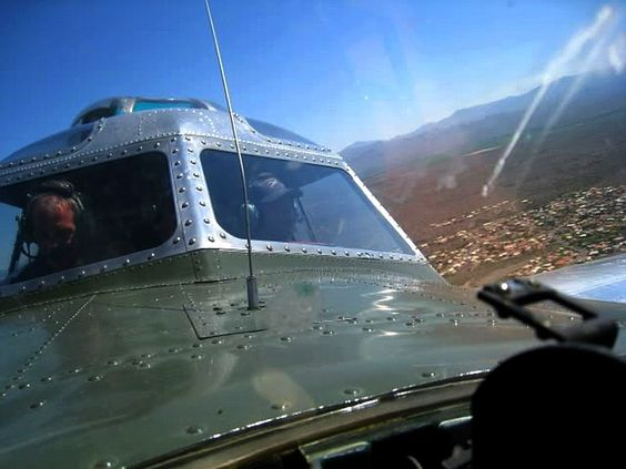 B-17 view from nose navigation dome
