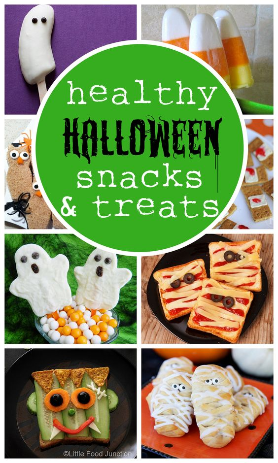 Cute (and healthy!) Halloween snacks - no cranky hyped-up children afterward. This is perfect!