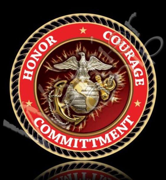 HONOR COURAGE COMMITMENT USMC
