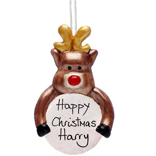 Personalised Handmade Traditional Rudolph Ornament  from Personalised Gifts Shop - ONLY £9.99