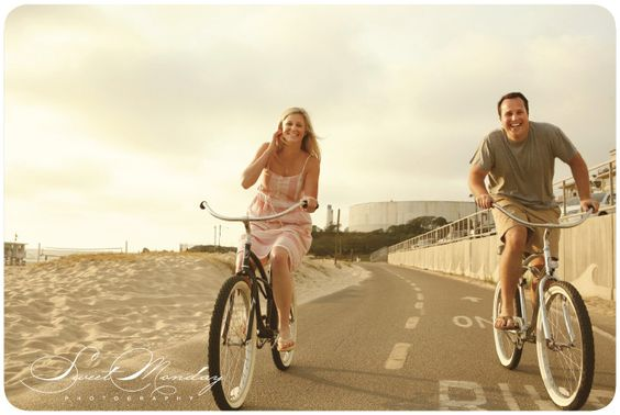 beach engagement photos, bride and groom portraits Photo by Sweet Monday Photography www.sweetmondayphotography.com