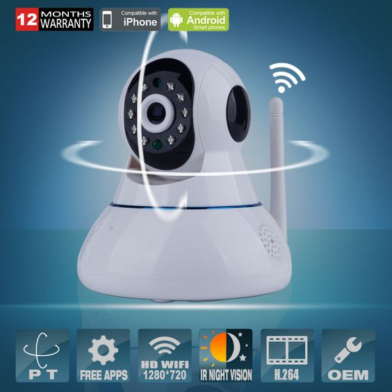 Ip camera baby monitor and monitor on pinterest for Microcamera wifi per iphone e android