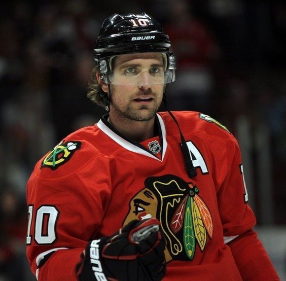 Patrick Sharp, leftwing for the Chicago Blackhawks