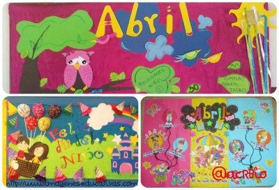Ideas para el peri dico mural del mes de abril collage for Amenidades para periodico mural