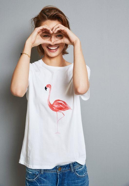 hush | Flamingo Print Tee