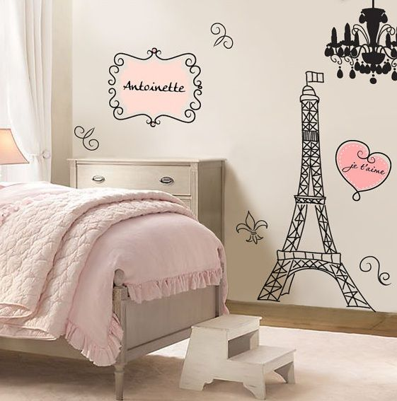 Owl Bedrooms For Girls, Paris Bedroom Ideas For Kids, Parisian Girls Bedroom, Paris Teen Bedroom, Paris Bedroom Decor, Little Girl Rooms, Paris Styled ...