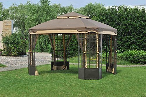Sunjoy Smith Hawken San Rafael 10 X 12 Replacement Gazebo Mosquito Net Home And Garden Shopping Com Gazebo Replacement Canopy Gazebo Replacement Canopy
