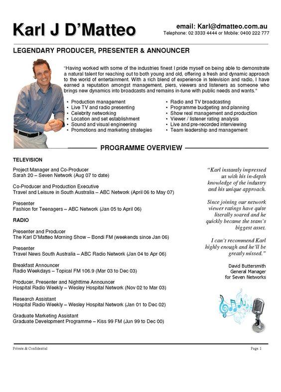 Presenter Resume Examples Free Resume Templates Resume Examples Resume Outline Resume