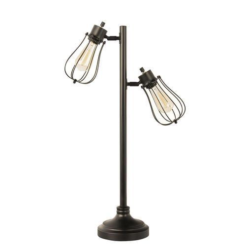Patriot Lighting Rudy 28 1 4 Black Vintage Cage Lamp 2 Pack At Menards Caged Lamp Cage Light Lamp