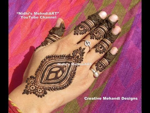 Mehndi For Shrimant : Youtube peacock henna mehndi design unique latest