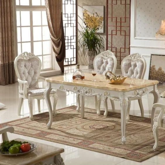 Wooden Antique 6 Piece Dining Table Set In 2019 Dinning Table