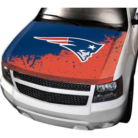 New England Patriots NFL Auto Hood Cover, Multicolor
