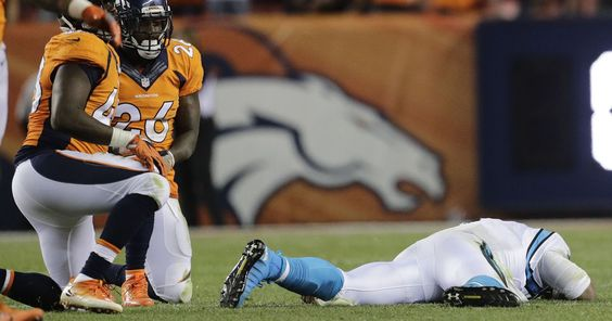 The NFL just fined two Broncos for their helmet-to-helmet hits on Cam Newton #Sport #iNewsPhoto