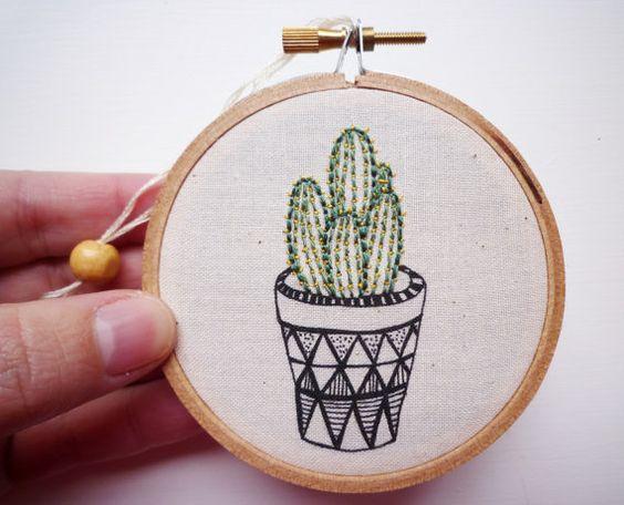Brodé de Cactus ' Cactus 1' par le fromage par CheeseBeforeBedtime